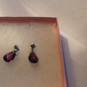 Amethyst and silver earrings