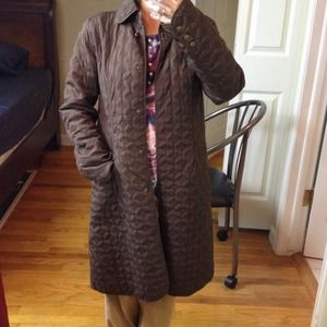 Carole little  Jackets & Coats - CAROLE LITTLE brown quilted coat