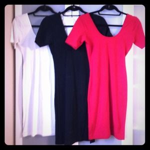 American Apparel Dresses & Skirts - Set of 3 Double U Neck Bodycon Dresses