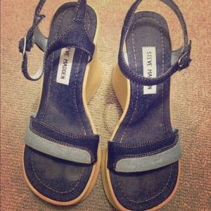 Steve Madden denim like wedges