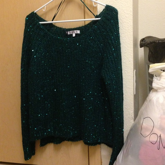 Jennifer Lopez - 🚫🚫HOLD🚫🚫Green Sequin Sweater from Tiffany's ...