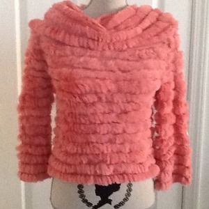 BCBG - peach color top / small