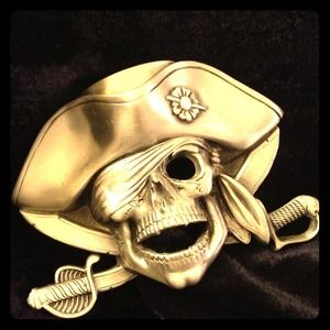 Arghhh ..Pirate Belt Buckle in Pewter