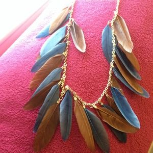 Feather necklace!