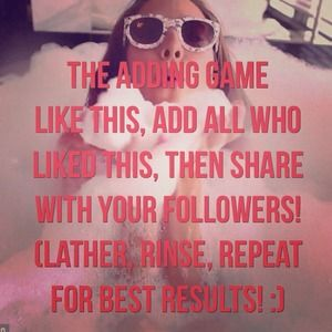 Like, add, share to increase your following!!