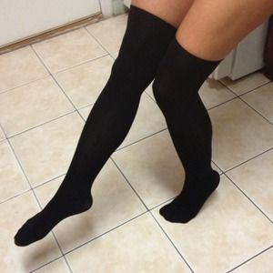 Other - Black Over the Knee Thigh High Socks