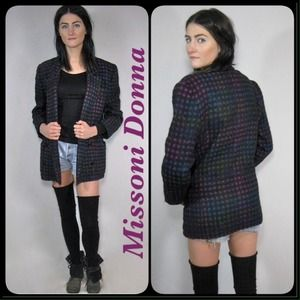 Vintage Missoni Donna rainbow blazer