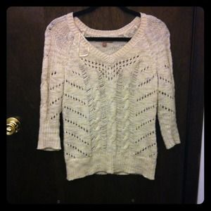 Oatmeal colored knit sweater