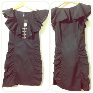Pepe jeans London  Dresses & Skirts - REDUCED ⚡️Black ruffle/ruche dress size medium⚡️