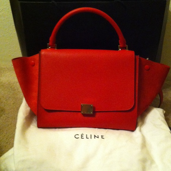 3e8de2a294b Celine Red Trapeze bag brand new from Barney's NWT