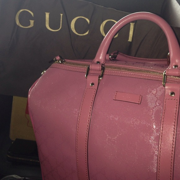 32c56ebe8b34 Gucci Bags | Sold Joy Pink Discontinued Boston Imprime | Poshmark