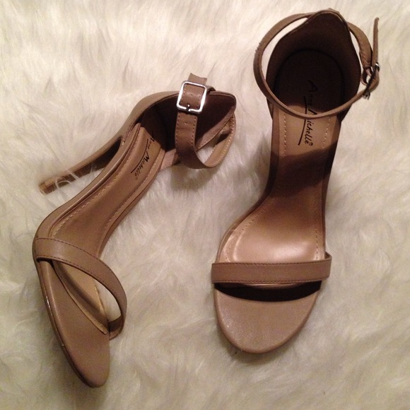 27% off Zara Shoes - Nude Beige Strappy Sandal Heels Zara Inspired