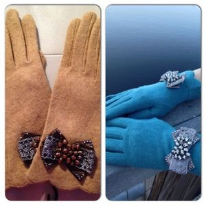 Accessories - Bow Accent Gloves