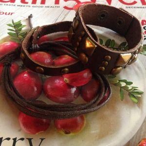 Accessories - Distressed Look Vegan leather bracelets