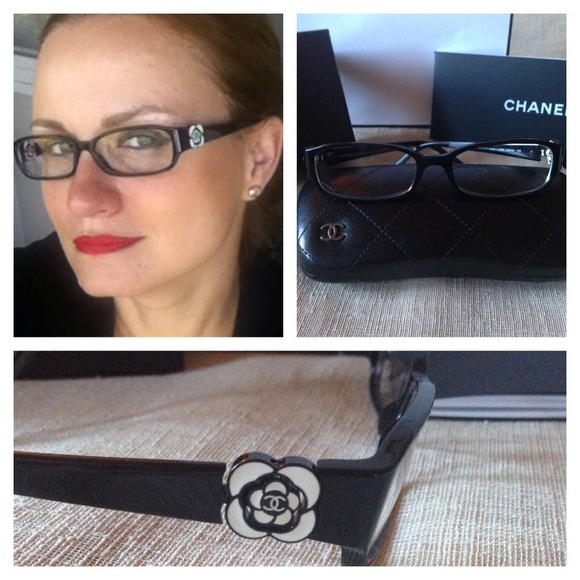 70% off CHANEL Accessories - CHANEL Camellia Eyeglasses w ...