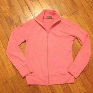 Topshop Pink Zip Up Sporty Track Jacket