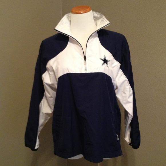 buy popular b05cb 5962c Reebok Dallas cowboys Windbreaker 1/4 zip