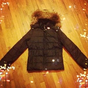 Lucky Brand Jackets & Blazers - REDUCED Real Fur Trimmed Down Jacket