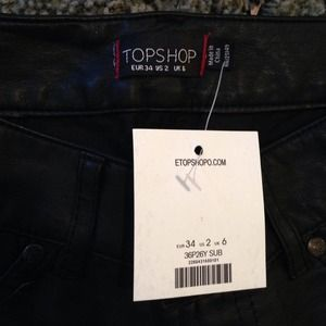 Topshop leather pants REDUCED 