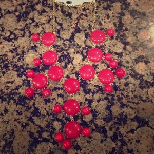 Hold. Raspberry Bubble Necklace