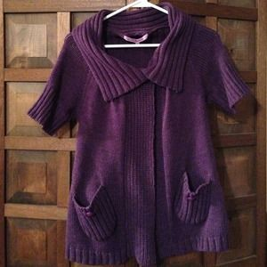 Purple sweater. Size small.