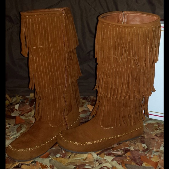 Pierre Dumas - Tan Fringe Boots from Shelby's closet on Poshmark