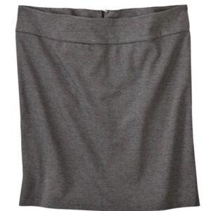 Merona 4X Doubleweave Pencil Skirt Black Heather