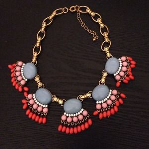 Jewelry - J.Crew inspired fringe fan necklace