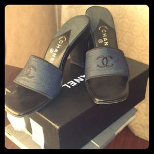 Chanel Denim heels