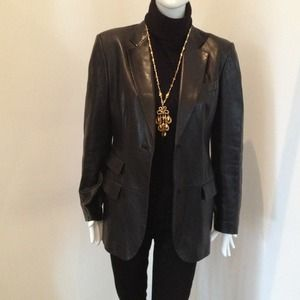 just reduced gucci authentic leather jacket
