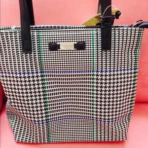 Ralph Lauren canvass small tote with zipper.