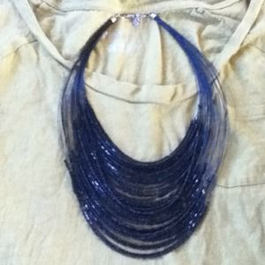Multi-strand bead necklace