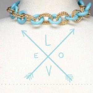 Kenneth Jay Lane Jewelry - {Light Blue} Enamel & Chain Necklace 🎉2x HP