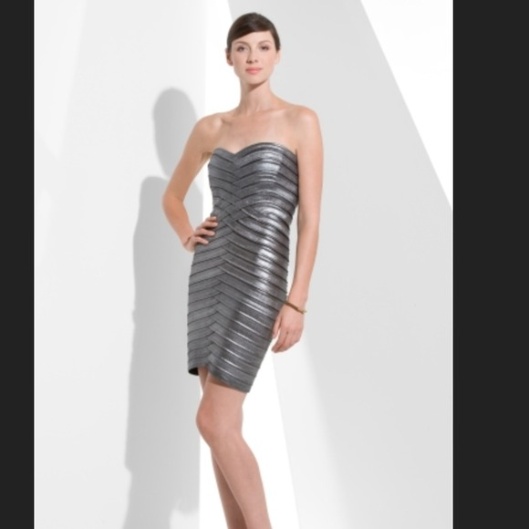 91% off BCBGMaxAzria Dresses & Skirts - SOLD IN BUNDLE BCBG silver ...