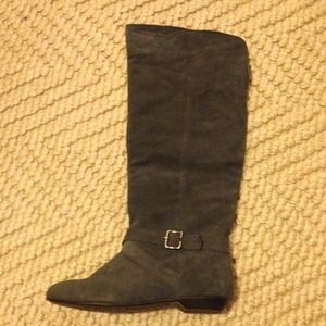 NWT, Chinese Laundry, gray suede tall boots!