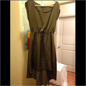 Old navy olive green high-low dress