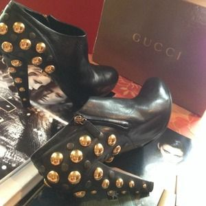 cbb9a78d7 Gucci Shoes | Euro 41 Babouska Studded Booties | Poshmark