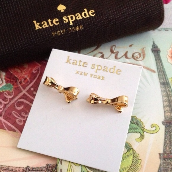 kate spade Jewelry - Authentic Kate Spade Gold Bow Earrings 2
