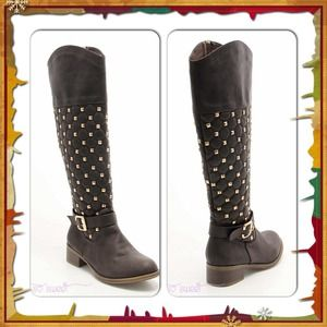 Boots - Studded Brown Boots