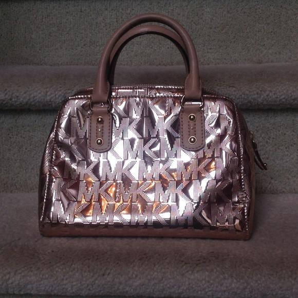 c8b9ea6764 Michael Kors Rose Gold Mirror Metallic Satchel. M_527be18e4b666512a901d966