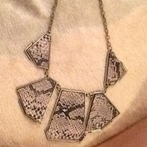 Snakeskin statement necklace