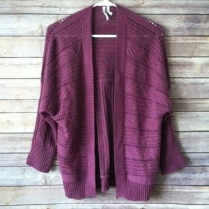 ❌BUNDLED❌Purple Willow bay open front cardigan