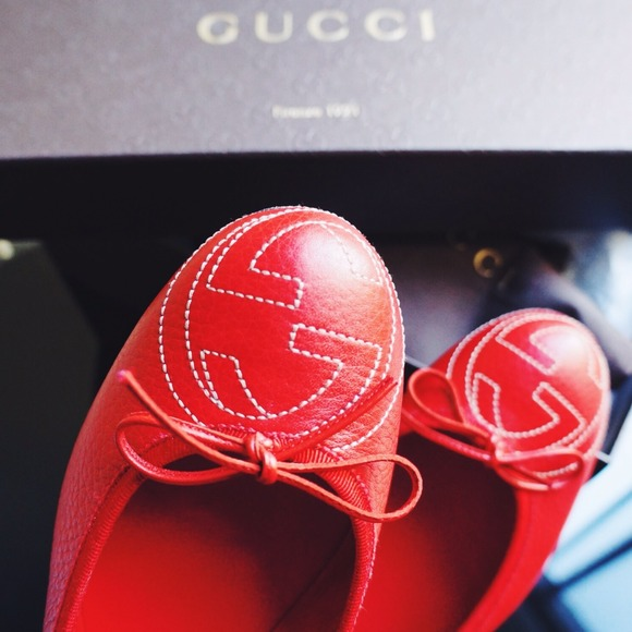 Gucci Shoes - Red Gucci Ballet Flats 2
