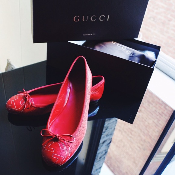 Gucci Shoes - Red Gucci Ballet Flats