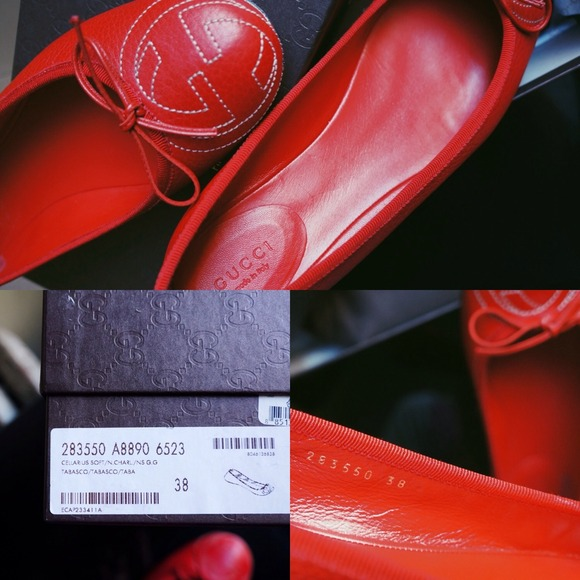 Gucci Shoes - Red Gucci Ballet Flats 4