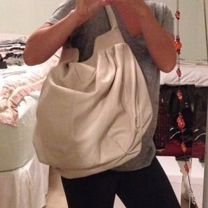 Off white hobo bag.