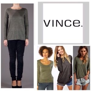 Vince Olive Green Long Sleeve Top.  NWT.