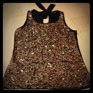 Sequin tank, new without tags