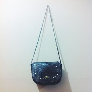 Chain Bag Faux Croc