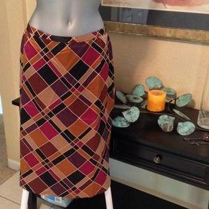 HOST PICKPlaid silk skirt